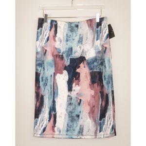 NWT Mossimo Abstract Print Pencil Skirt - XL
